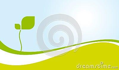 Environmentally green landscape vector