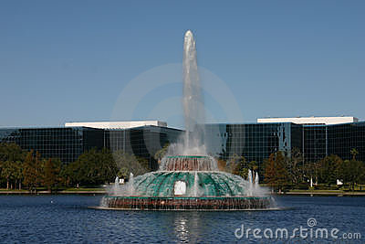 Eola fontanny jeziora