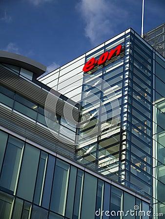 Eon power company headquarters Notingham Editorial Stock Image