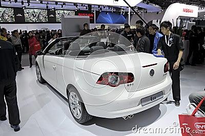EOS Cabrio de Volkswagen Foto de Stock Editorial