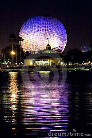 Epcot Center at night Editorial Photography