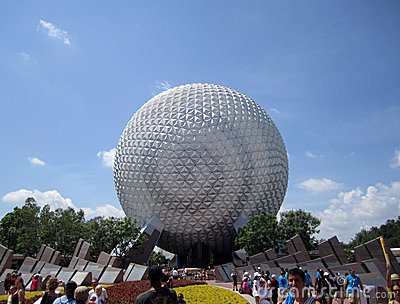 Epcot Globe Orlando Florida Editorial Photo