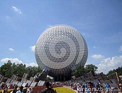 Epcot Globe Orlando Florida Editorial Photo