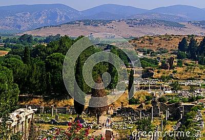 Ephesus Abhang und Ruinen
