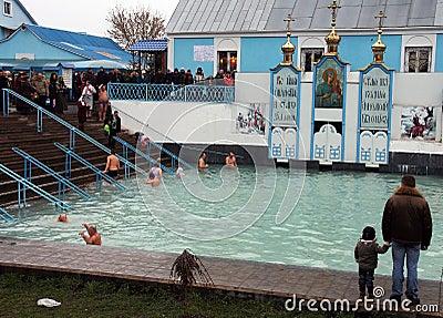 Epifanía en Ucrania Fotografía editorial
