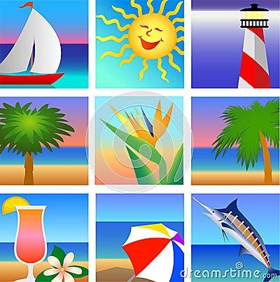 海滩eps热带假期