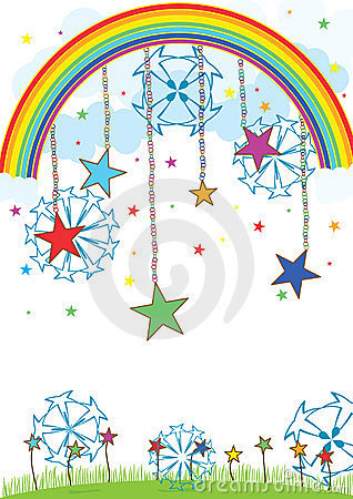 шарики eps над звездой неба