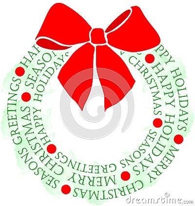 圣诞节eps问候花圈