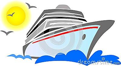 абстрактный корабль eps круиза