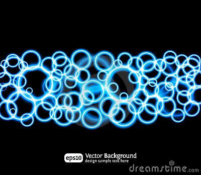 Eps10 bright light effects blue background