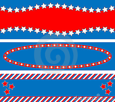EPS8 Vector 3 Red White Blue Star Striped Backgrou