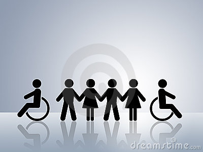 Equal opportunities disabled wheelchair equality
