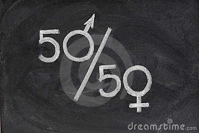 Equal opportunity or representation of genders