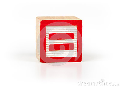 Equal sign alphabet toy block