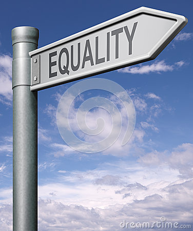 Free Equality Road Sign Stock Photography - 40892852
