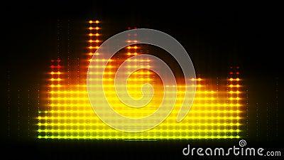 Equalizador coloreado, líneas animadas 3d almacen de video