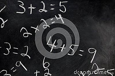 Equations on Chalkboard