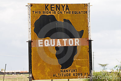Equator Sign in Kenya