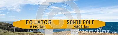 Equator/South Pole