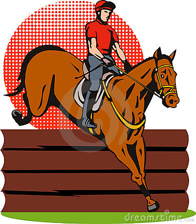 Free Equestrian And Horse Jumping Royalty Free Stock Photography - 6640227