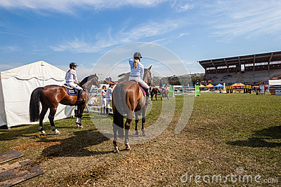 Equestrian Arena Horses Riders Next Editorial Image