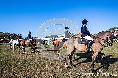 Equestrian Arena Horses Riders Prizes Editorial Image