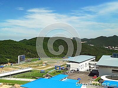 Equestrian competition area