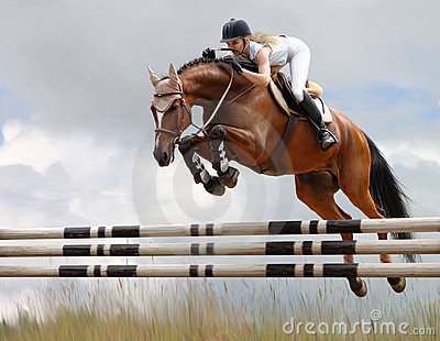Equestrian - horse jumping
