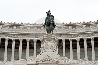 Equestrian monument to Victor Emmanuel II Rome, It