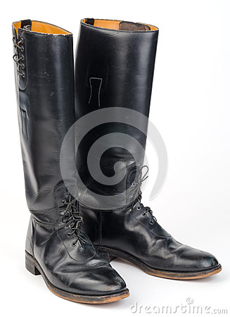 Free Equestrian Or Police, Riding Boots. Royalty Free Stock Photo - 37371255