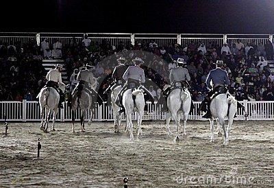 Equestrian performs on March 26, 2012 in Bahrain Editorial Photography