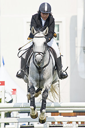 Equestrian Show Jumping Editorial Stock Photo