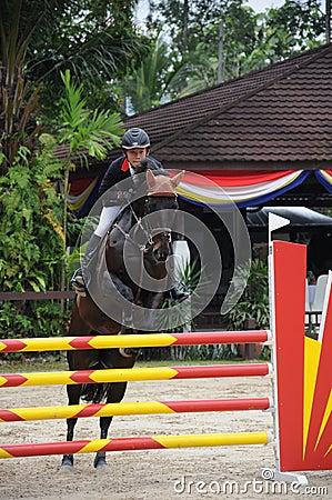 Equestrian Showjumping 3Q Classic Editorial Stock Image