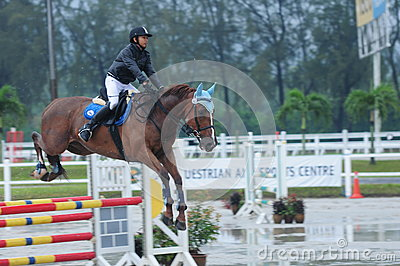 Equestrian showjumping - STC Horse Show 2013 Editorial Stock Photo