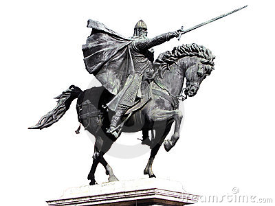 Equestrian Statue with Clipping Path