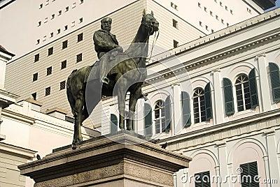 Equestrian statue in Genoa