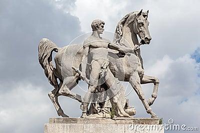 Equestrian Statue Pont d´Iena Paris