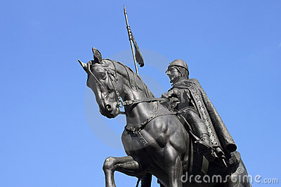 Equestrian statue in Prague - RAW format