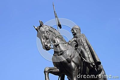Equestrian statue in Prague - RAW format
