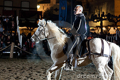 Equestrian tournament between knights Editorial Stock Image