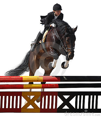 Equestriat, horse jumping