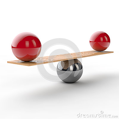 Equilibrium and balance on a seesaw