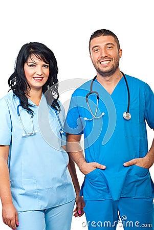 Equipa médica amigável