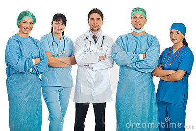 Equipe de cinco doutores