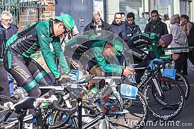 Equipe de Europcar Foto Editorial