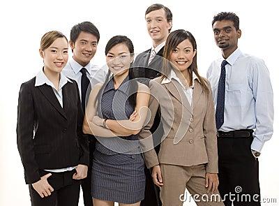 Equipe feliz 2 do negócio