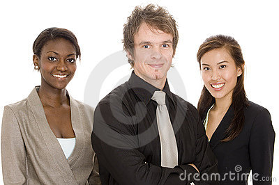 Equipe nova do negócio