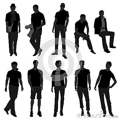 Equipe o modelo masculino da compra da forma dos homens