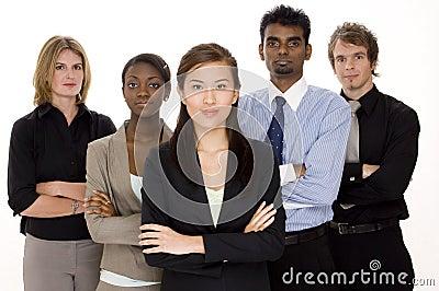 Equipe séria do negócio