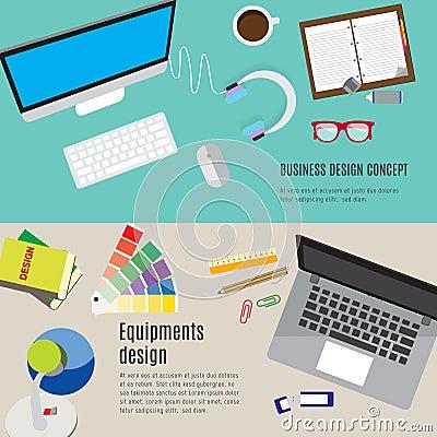 Equipment Design Workspace. Stock Vector - Image: 55153654